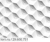 Купить «Abstract geometric pattern of white cubes 3d», иллюстрация № 29600751 (c) EugeneSergeev / Фотобанк Лори