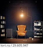 Купить «modern luxury loft interior.», фото № 29605947, снято 20 января 2019 г. (c) Виктор Застольский / Фотобанк Лори