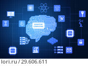 The quantum computing as modern technology concept. Стоковое фото, фотограф Elnur / Фотобанк Лори