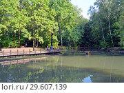 Купить «Ляхвинский пруд в Теплом Стане, Москва», фото № 29607139, снято 8 сентября 2018 г. (c) Александр Замараев / Фотобанк Лори