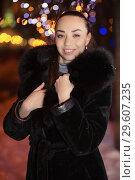 Купить «Portrait of a joyful young brunette», фото № 29607235, снято 19 января 2016 г. (c) Сергей Сухоруков / Фотобанк Лори