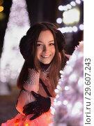 Купить «Portrait of a playful brunette», фото № 29607243, снято 23 января 2016 г. (c) Сергей Сухоруков / Фотобанк Лори