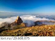 Купить «Panorama of Schalbus-Dag mountain, Dagestan Caucasus Russia», фото № 29608075, снято 13 июня 2015 г. (c) Сергей Майоров / Фотобанк Лори
