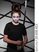 Купить «Serious teen girl.», фото № 29608423, снято 29 января 2016 г. (c) Сергей Сухоруков / Фотобанк Лори