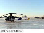 Купить «Вертолёты на подмосковном аэродроме Мячково», фото № 29618591, снято 23 ноября 2016 г. (c) Free Wind / Фотобанк Лори