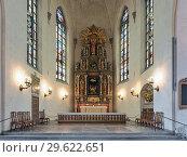 Купить «Хор и алтарь церкви Святого Иакова в Стокгольме, Швеция», фото № 29622651, снято 3 апреля 2016 г. (c) Михаил Марковский / Фотобанк Лори
