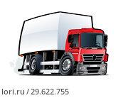 Купить «Cartoon delivery or cargo truck isolated on white background», иллюстрация № 29622755 (c) Александр Володин / Фотобанк Лори