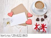 Купить «Valentine's Day composition.», фото № 29622863, снято 11 февраля 2018 г. (c) Мельников Дмитрий / Фотобанк Лори