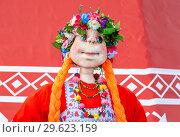 Купить «Big doll for the burning as symbol of winter during the Maslenitsa or Pancake Week», фото № 29623159, снято 2 февраля 2018 г. (c) FotograFF / Фотобанк Лори