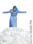 Купить «Shrovetide effigy standing on a snowdrift cooked on a pagan rite to burning.», фото № 29625759, снято 12 марта 2016 г. (c) Акиньшин Владимир / Фотобанк Лори