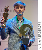 Купить «World Rapid Chess Champion Daniil Dubov, Russia», фото № 29629371, снято 30 декабря 2018 г. (c) Stockphoto / Фотобанк Лори