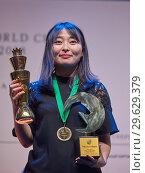 Купить «World Chess Champion Ju Wenjun, China», фото № 29629379, снято 30 декабря 2018 г. (c) Stockphoto / Фотобанк Лори