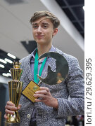 Купить «World Rapid Chess Champion Daniil Dubov, Russia», фото № 29629395, снято 30 декабря 2018 г. (c) Stockphoto / Фотобанк Лори