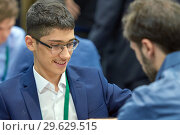 Купить «Grandmaster Alireza Firouzja, Iran», фото № 29629515, снято 30 декабря 2018 г. (c) Stockphoto / Фотобанк Лори