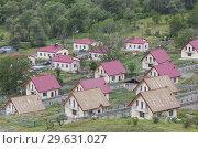 Nagorno Karabakh Republic, Aghavno, village along Armenian border rebuilt after fighting in the Nagorno Karabakh War. Стоковое фото, фотограф Walter Bibikow / age Fotostock / Фотобанк Лори