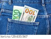 Купить «Euro and american currency», фото № 29633567, снято 12 ноября 2016 г. (c) FotograFF / Фотобанк Лори