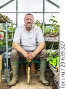 Купить «Plot 38 Jim Brown, Eglinton Growers Allotments, Kilwinning, Ayrshire, Scotland, UK.», фото № 29639327, снято 19 августа 2018 г. (c) age Fotostock / Фотобанк Лори