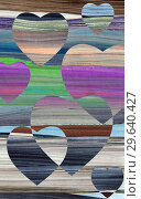 Valentines day colorful background with hearts shape. Стоковое фото, фотограф bashta / Фотобанк Лори