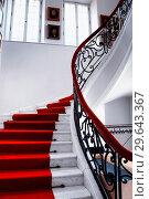 Interior of Palace in Otwock Wielki or Otwock Grand Palace known also Jezierscy Family palace or Bielinscy Family palace, architect Tylman van Gameren... Стоковое фото, фотограф Danuta Hyniewska / age Fotostock / Фотобанк Лори