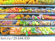 Купить «Russia, Samara, November 2018: various vegetables in a large supermarket.», фото № 29644939, снято 30 ноября 2018 г. (c) Акиньшин Владимир / Фотобанк Лори