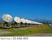Сибирский солнечный радиотелескоп радиоастрофизической обсерватории в Бадарах. Стоковое фото, фотограф Пётр Писковой / Фотобанк Лори