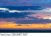 Купить «Peaceful sky with cloud breaks above ocean», фото № 29647167, снято 9 февраля 2016 г. (c) Яков Филимонов / Фотобанк Лори