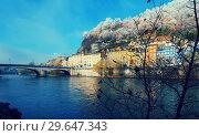 Купить «Hill with Bastille in Grenoble is fortification landmark in France», фото № 29647343, снято 7 декабря 2017 г. (c) Яков Филимонов / Фотобанк Лори