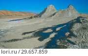 Купить «Panorama view to mud volcanoes, Qobustan, Azerbaijan», фото № 29657859, снято 7 ноября 2010 г. (c) Сергей Майоров / Фотобанк Лори