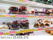 Купить «Different fresh sweet cakes ready to sale», фото № 29658315, снято 24 марта 2018 г. (c) FotograFF / Фотобанк Лори