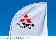 Купить «Official dealership sign Mitsubishi», фото № 29658363, снято 23 сентября 2018 г. (c) FotograFF / Фотобанк Лори