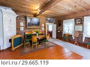 Купить «Interior of the museum Alexander Suvorov in the museum-homestead», фото № 29665119, снято 22 июля 2017 г. (c) FotograFF / Фотобанк Лори