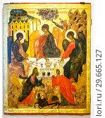 Купить «The Old Testament Trinity, 16th-17th centuries», фото № 29665127, снято 17 августа 2017 г. (c) FotograFF / Фотобанк Лори