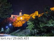 Illuminated Rabati Castle in Akhaltsikhe (2018 год). Стоковое фото, фотограф Юлия Бабкина / Фотобанк Лори