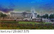 Купить «Buckingham Palace 1», видеоролик № 29667575, снято 19 июля 2019 г. (c) Wavebreak Media / Фотобанк Лори