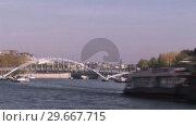 Купить «River Seine Timelapse», видеоролик № 29667715, снято 18 июня 2019 г. (c) Wavebreak Media / Фотобанк Лори