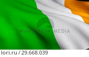 Купить «3d Render of the Irish Flag», видеоролик № 29668039, снято 18 января 2019 г. (c) Wavebreak Media / Фотобанк Лори