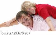Купить «Dad giving his son piggyback ride», видеоролик № 29670907, снято 13 октября 2009 г. (c) Wavebreak Media / Фотобанк Лори
