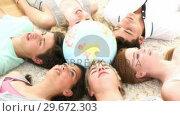 Купить «Teenager Group study session », видеоролик № 29672303, снято 22 октября 2009 г. (c) Wavebreak Media / Фотобанк Лори