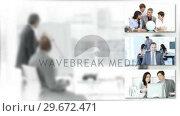 Купить «Montage footage showing the concept of teamwork in Business», видеоролик № 29672471, снято 19 июня 2019 г. (c) Wavebreak Media / Фотобанк Лори