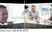Купить «Business team at work», видеоролик № 29672475, снято 18 июня 2019 г. (c) Wavebreak Media / Фотобанк Лори