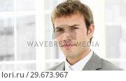 Купить «Portrait of a successful businessman», видеоролик № 29673967, снято 17 февраля 2019 г. (c) Wavebreak Media / Фотобанк Лори