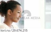 Купить «Portrait of a businesswoman relaxing», видеоролик № 29674215, снято 19 июня 2019 г. (c) Wavebreak Media / Фотобанк Лори