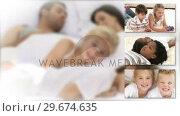 Купить «Little children and their parents relaxing», видеоролик № 29674635, снято 10 июля 2020 г. (c) Wavebreak Media / Фотобанк Лори