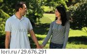 Купить «Man walking with his wife», видеоролик № 29676291, снято 10 ноября 2010 г. (c) Wavebreak Media / Фотобанк Лори