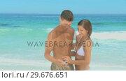 Cute couple taking a photo of themselves. Стоковое видео, агентство Wavebreak Media / Фотобанк Лори