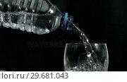 Купить «Mineral water flowing in super slow motion», видеоролик № 29681043, снято 24 февраля 2012 г. (c) Wavebreak Media / Фотобанк Лори