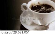 Купить «White sugar falling in super slow motion», видеоролик № 29681051, снято 24 февраля 2012 г. (c) Wavebreak Media / Фотобанк Лори