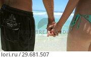 Купить «Couple holding each other hand», видеоролик № 29681507, снято 18 ноября 2011 г. (c) Wavebreak Media / Фотобанк Лори