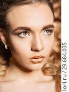 Купить «Portrait of a young blonde.», фото № 29684035, снято 19 марта 2016 г. (c) Сергей Сухоруков / Фотобанк Лори