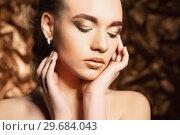 Купить «Portrait of a attractive lady.», фото № 29684043, снято 19 марта 2016 г. (c) Сергей Сухоруков / Фотобанк Лори
